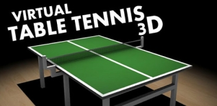 Virtual 3D tennis de table