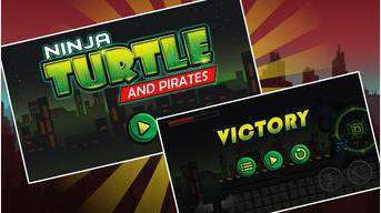 Ninja et tortue ombre Pirate